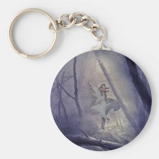 Startled Fairy Basic Round Button Keychain