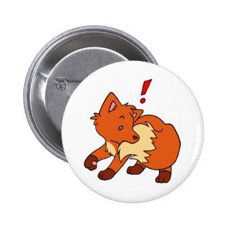 Startled Fox Pinback Buttons