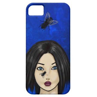 Startled Girl With Blowflies (Blue Bacteria) iPhone SE/5/5s Case