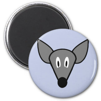 Startled mouse rat face 2 inch round magnet