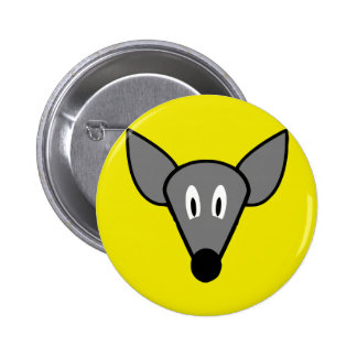 Startled mouse rat face pinback button
