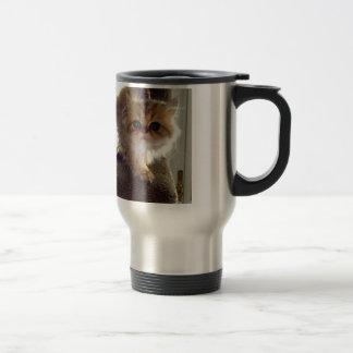 Startled Persian Kitten Travel Mug