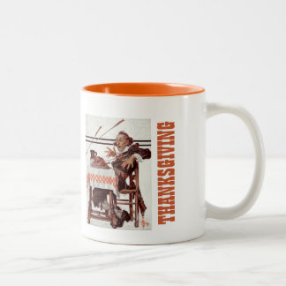 """""""Startled Pilgrim"""",  Thanksgiving Gift Mugs"""