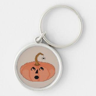Startled Pumpkin Keychain