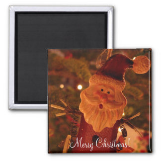 Startled Santa Claus 2 Inch Square Magnet