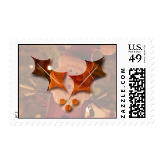 Startled Santa Claus; Merry Christmas Postage