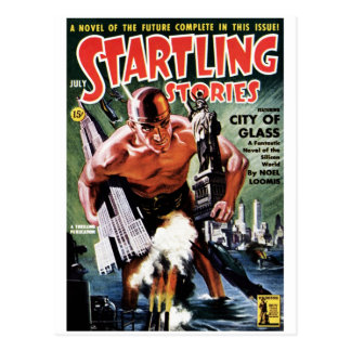 Startling Stories - City of Glass Postcard