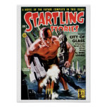 Startling Stories - City of Glass Poster