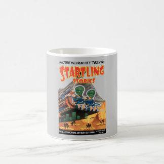 Startling Stories - comic book art Classic White Coffee Mug