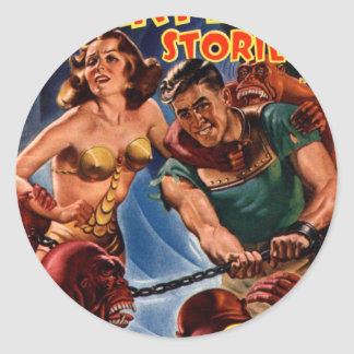 Startling Stories Fall Issue Classic Round Sticker