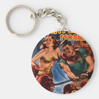 Startling Stories Fall Issue Basic Round Button Keychain