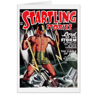 """""""Startling Stories"""" - """"Lord of the Storm"""" Card"""