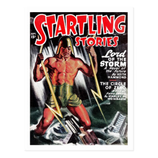 """""""Startling Stories"""" - """"Lord of the Storm""""Postcard"""