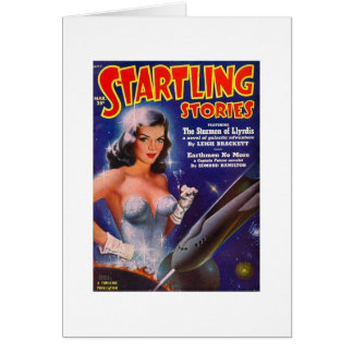 Startling Stories March - Vintage SciFi Comic Card