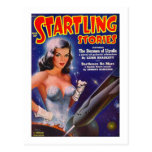Startling Stories March - Vintage SciFi Comic Postcards