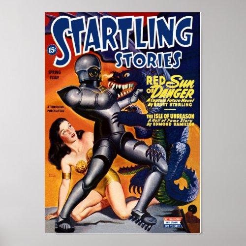 Startling Stories -- Red Sun of Danger