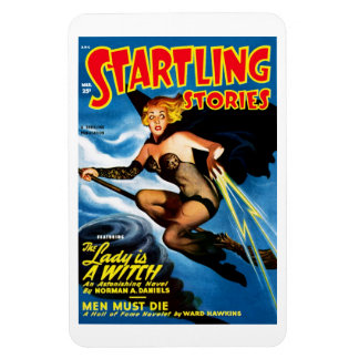 Startling Stories - The Lady is A Witch  Magnet
