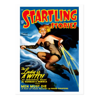 Startling Stories - The Lady is A Witch Postcard