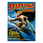 Startling Stories -- the Lady is a Witch Poster