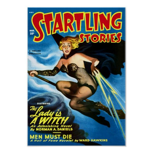 Startling Stories -- the Lady is a Witch