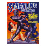 STARTLING STORIES Vintage Pulp Magazine Cover Art Poster