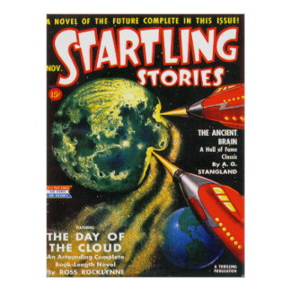 STARTLING STORIES Vintage Pulp Magazine Cover Art Poster