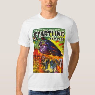 STARTLING STORIES Vintage Pulp Magazine Cover Art Tee Shirt