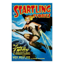 Startling Stories Witch Cover Poster