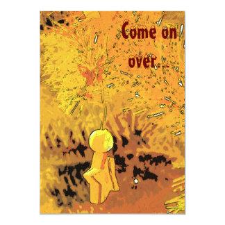 Startoon, Come on over... 13 Cm X 18 Cm Invitation Card