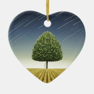 Startrail y árbol ornamento para arbol de navidad