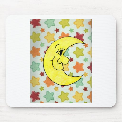 starts and the moon mouse pad