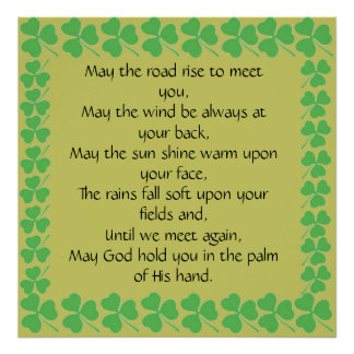 starts at $11.20-May the road rise to meet you Poster