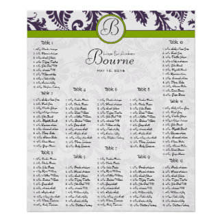 Starts at $13.20 Seating Chart 12 Tables Poster