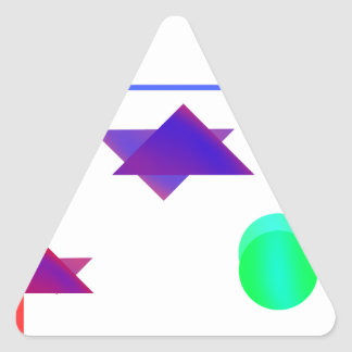 Starts Stripes and balls Triangle Sticker