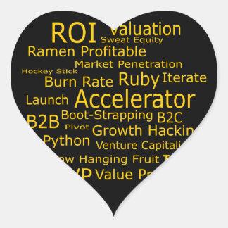 Startup Business Jargon Cloud Heart Sticker