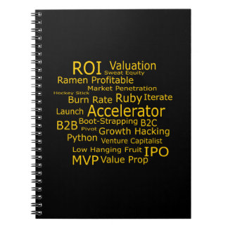 Startup Business Jargon Cloud Notebook