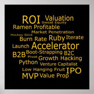Startup Business Jargon Cloud Poster