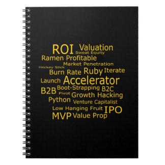 Startup Business Jargon Cloud Spiral Notebook
