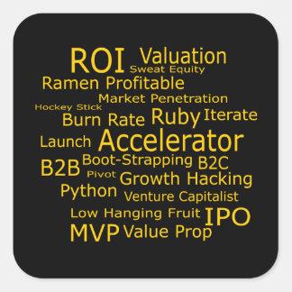 Startup Business Jargon Cloud Square Sticker