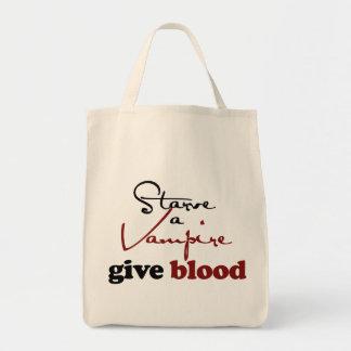 Starve a Vamprie Give Blood Bag