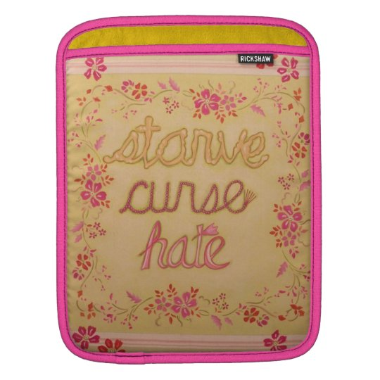 Starve Curse Hate Sleeve For iPads