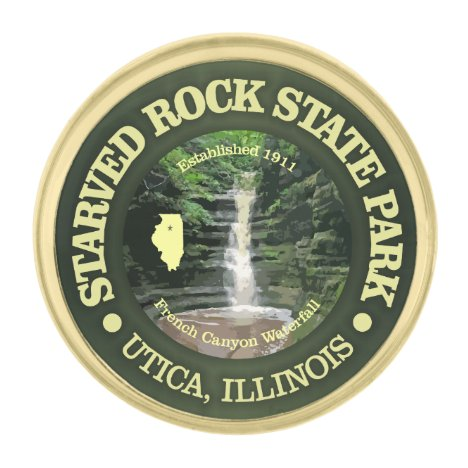 Starved Rock SP Gold Finish Lapel Pin