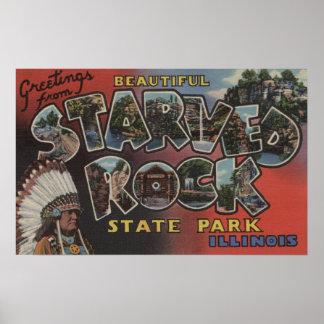 Starved Rock State Park - Large Letter Scenes Poster