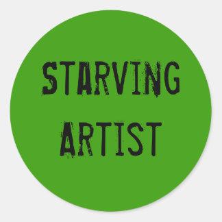 Starving Artist Art Gear Classic Round Sticker