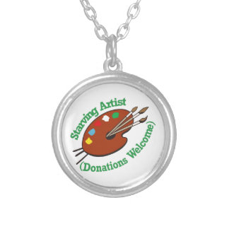 Starving Artist Round Pendant Necklace
