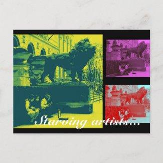 Starving Artists Postcard postcard
