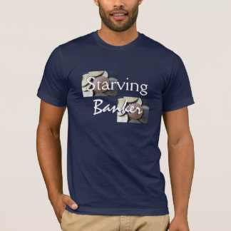 Starving Banker In Navy Blue T-Shirt