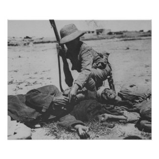 Starving Turkish Soldier Poster