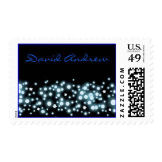 STARY NIGHT Bar Bat Mitzvah Postage Stamp