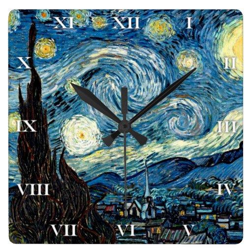 Stary Night by Van Gogh - Clock
